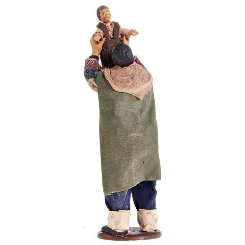 Nativity figurine man lifting up child 14cm 3