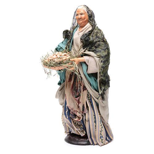 Neapolitan Nativity figurine, woman with egg basket, 30 cm 2