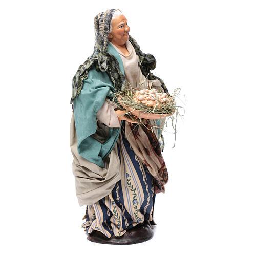 Neapolitan Nativity figurine, woman with egg basket, 30 cm 3