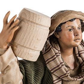 Neapolitan Nativity figurine, man with cask, 30cm s2