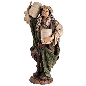Neapolitan Nativity figurine, man with cask, 30cm s3