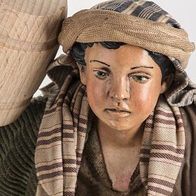 Neapolitan Nativity figurine, man with cask, 30cm s5