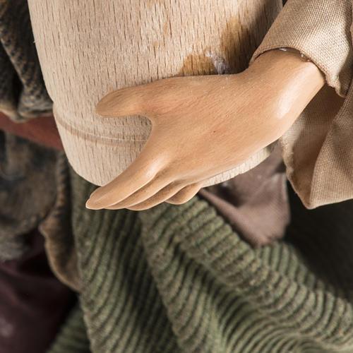Neapolitan Nativity figurine, man with cask, 30cm 4
