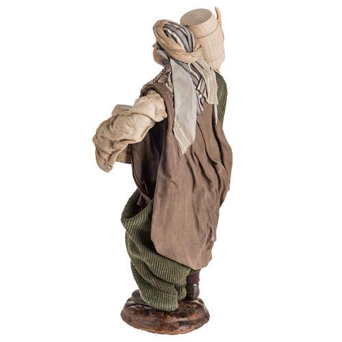 Neapolitan Nativity figurine, man with cask, 30cm 6