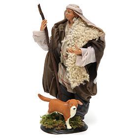 Pastore con cane 18 cm presepe Napoli s2