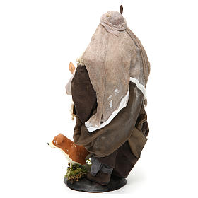 Neapolitan Nativity figurine, shepherd with dog, 18 cm s3