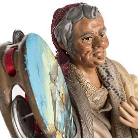 Neapolitan nativity scene figurine, man with tambourine 18cm s4