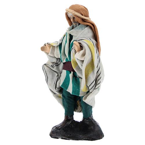 Neapolitan Nativity figurine, Arabian seller, 8 cm 2