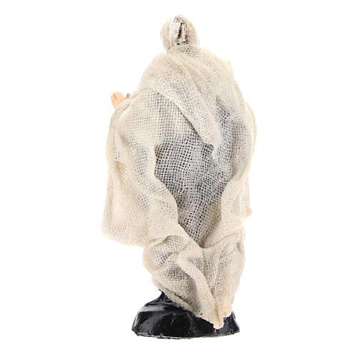 Neapolitan Nativity figurine, Beggar, 8 cm 4
