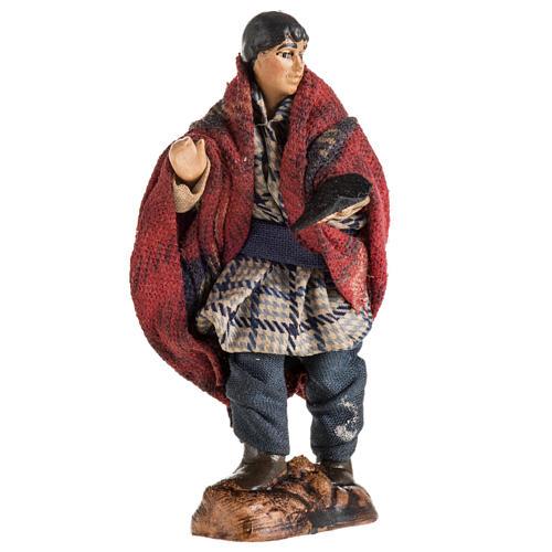 Neapolitan Nativity figurine, Beggar, 8 cm 1