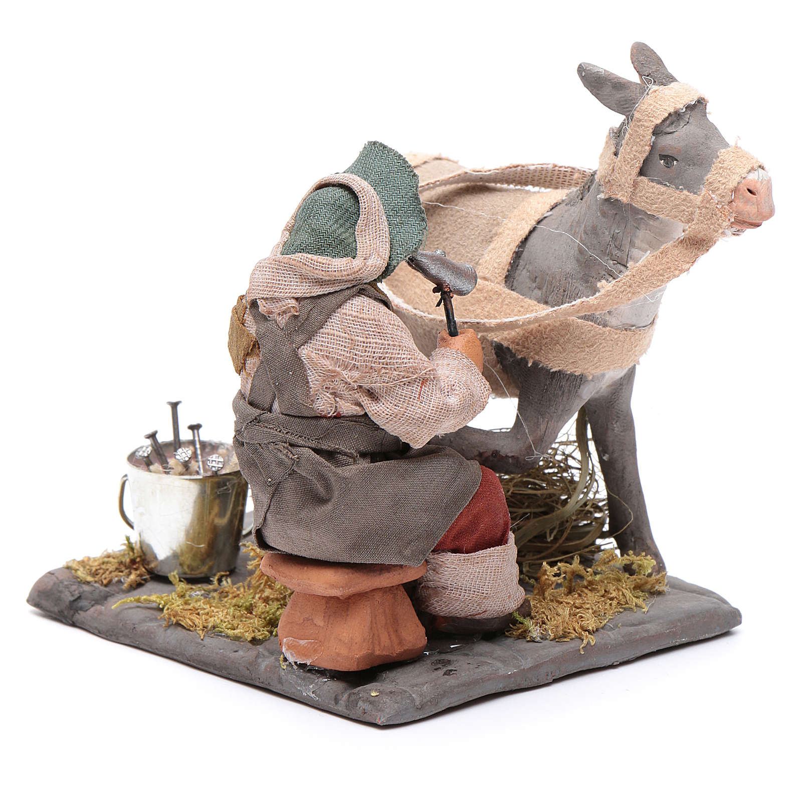Neapolitan Nativity figurine, horseshoer, 10 cm 4