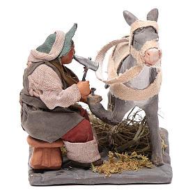 Neapolitan Nativity figurine, horseshoer, 10 cm s1