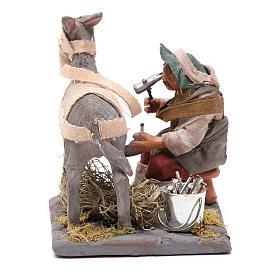 Neapolitan Nativity figurine, horseshoer, 10 cm s4