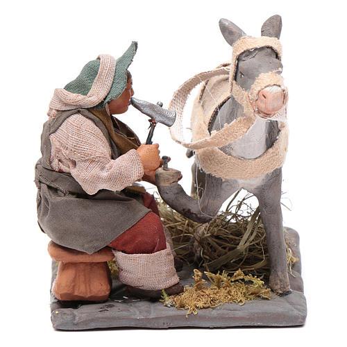 Neapolitan Nativity figurine, horseshoer, 10 cm 1