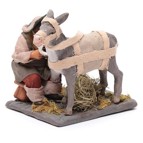 Neapolitan Nativity figurine, horseshoer, 10 cm 2