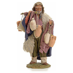 Uomo con sacchi 24 cm presepe Napoli s1