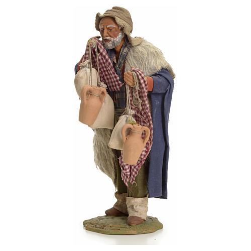 Uomo con sacchi 24 cm presepe Napoli 2