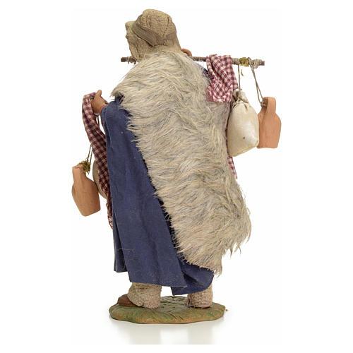 Uomo con sacchi 24 cm presepe Napoli 3