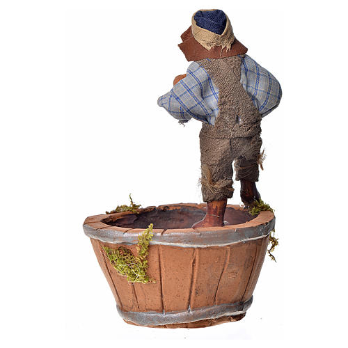 Homme qui presse la raisin 10cm crèche Napolitaine 2
