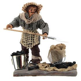 Neapolitan Nativity figurine, charcoal burner with base, 10 cm s1