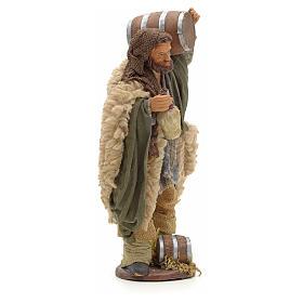 Hombre con barril y frasco en mano 14cm pesebre Nápoles s4