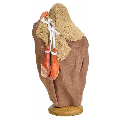 Venditore con sacchi addosso 10 cm presepe napoletano 3