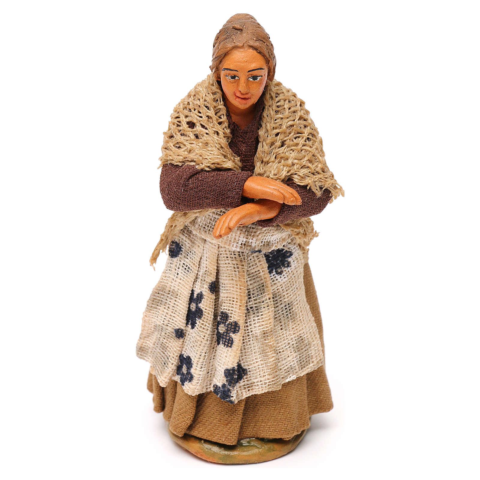 Femme au balcon crèche Napolitaine 10 cm 4