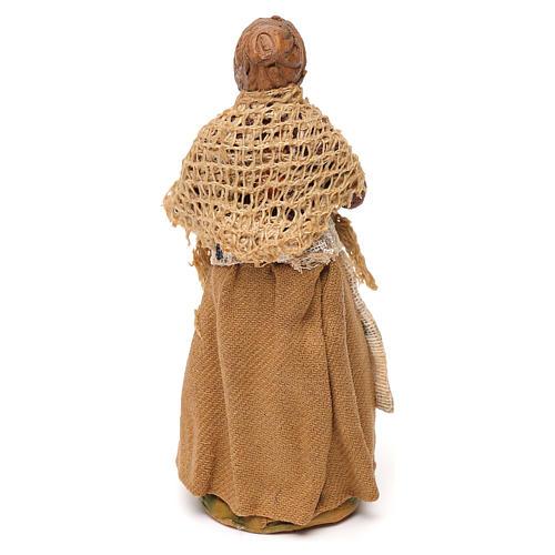 Femme au balcon crèche Napolitaine 10 cm 3