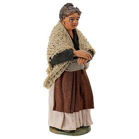 Neapolitan Nativity figurine, woman on the balcony , 10 cm s3