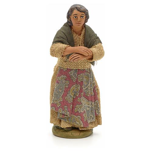 Neapolitan Nativity figurine, woman on the balcony , 10 cm 1