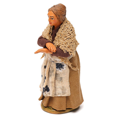 Neapolitan Nativity figurine, woman on the balcony , 10 cm 2