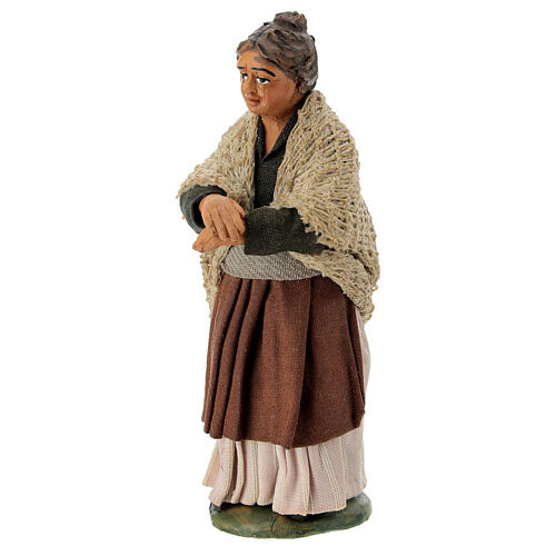 Neapolitan Nativity figurine, woman on the balcony , 10 cm 2