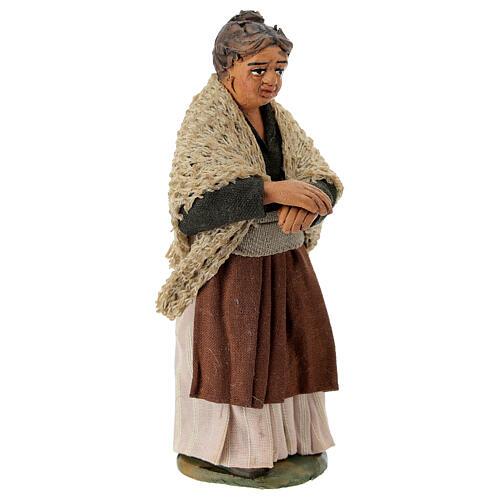 Neapolitan Nativity figurine, woman on the balcony , 10 cm 3