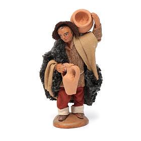 Neapolitan Nativity Scene: Neapolitan Nativity figurine, man carrying amphora, 10 cm