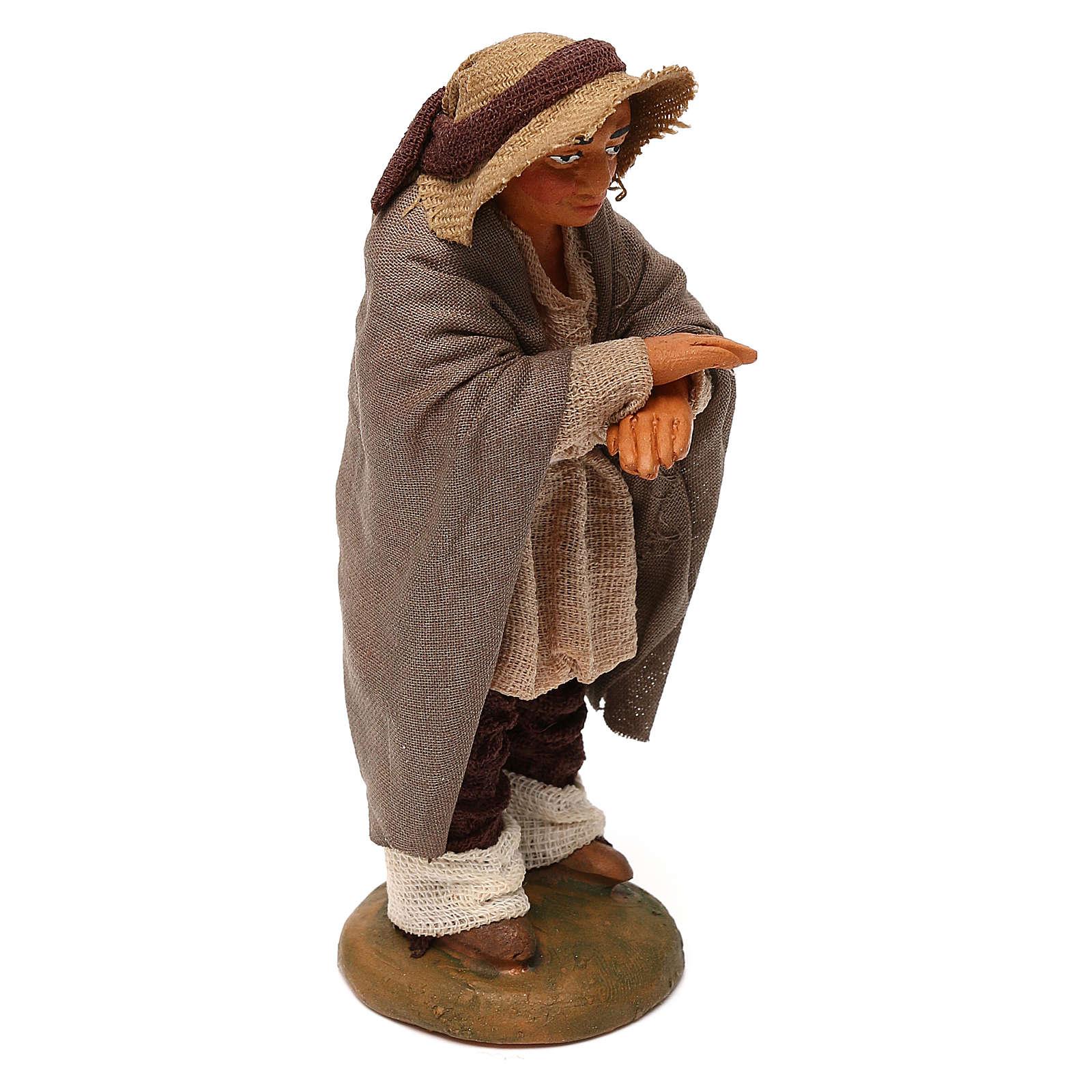 Neapolitan Nativity figurine, man on the balcony , 10 cm 4