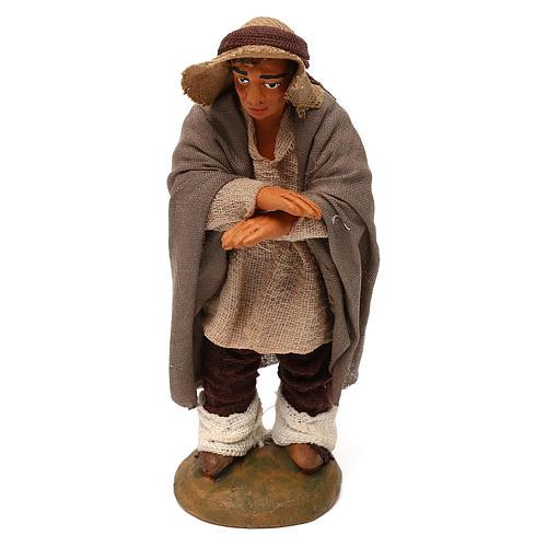 Neapolitan Nativity figurine, man on the balcony , 10 cm 1
