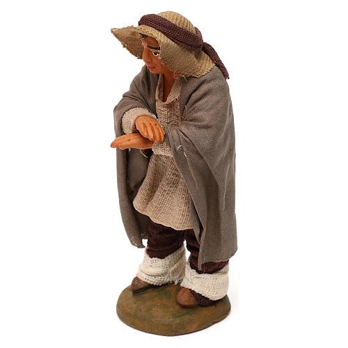 Neapolitan Nativity figurine, man on the balcony , 10 cm 2