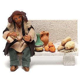Neapolitan Nativity figurine, beggar, 10 cm s1