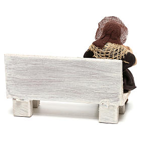Neapolitan Nativity figurine, beggar, 10 cm s4