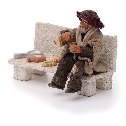 Neapolitan Nativity figurine, beggar, 10 cm 2