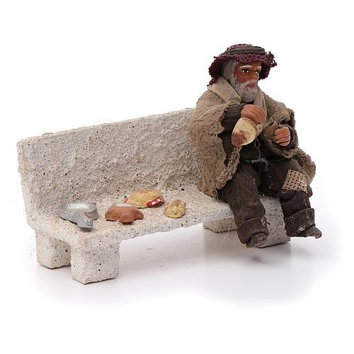 Neapolitan Nativity figurine, beggar, 10 cm 3