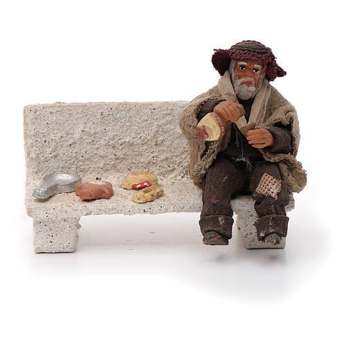 Neapolitan Nativity figurine, beggar, 10 cm 1