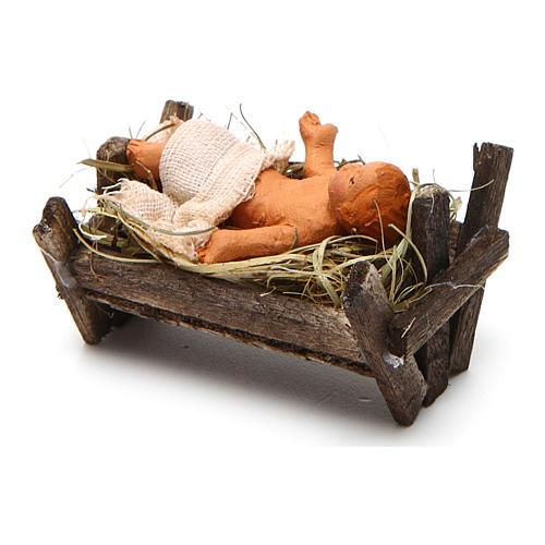 Neapolitan Nativity figurine, baby Jesus, 10 cm 3