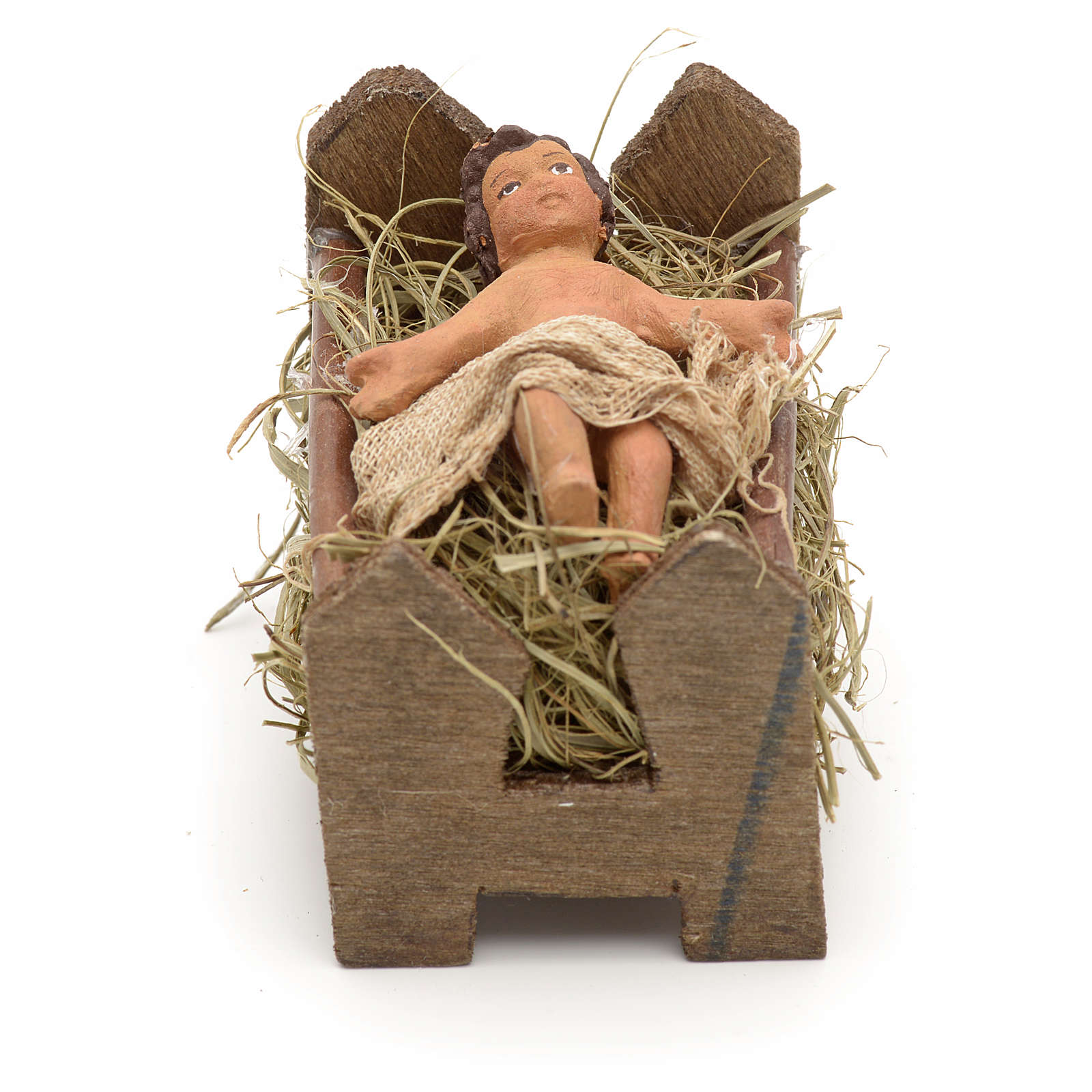 Gesù Bambino 10 cm presepe Napoli 4
