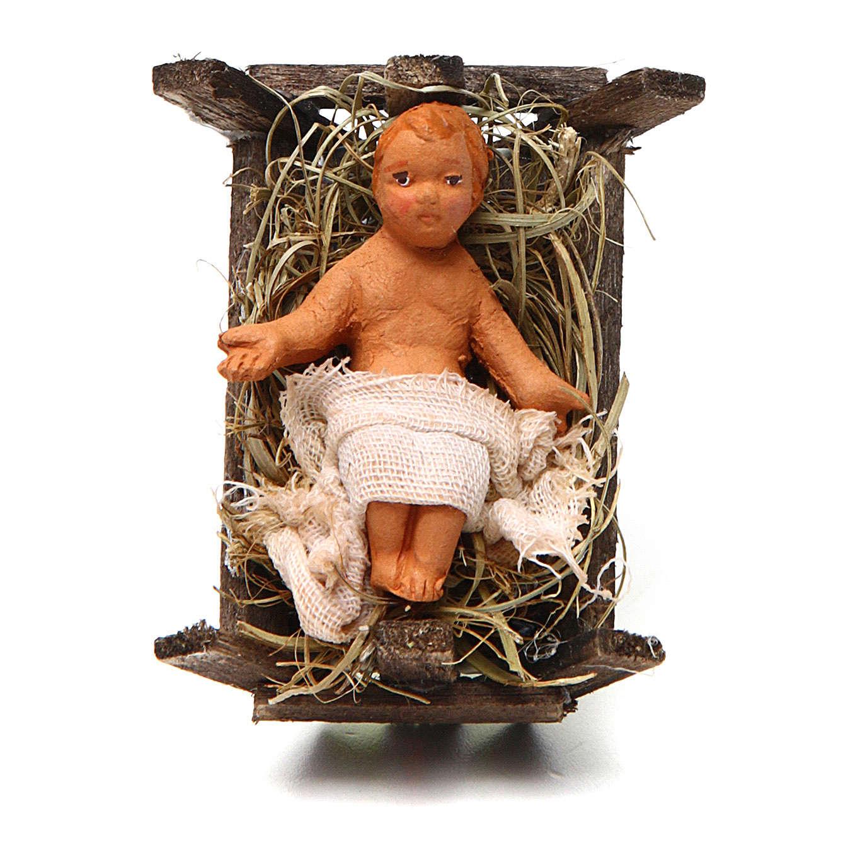 Neapolitan Nativity figurine, Baby Jesus, 10 cm 4