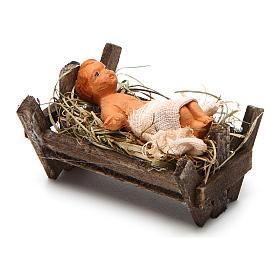 Neapolitan Nativity figurine, Baby Jesus, 10 cm s2