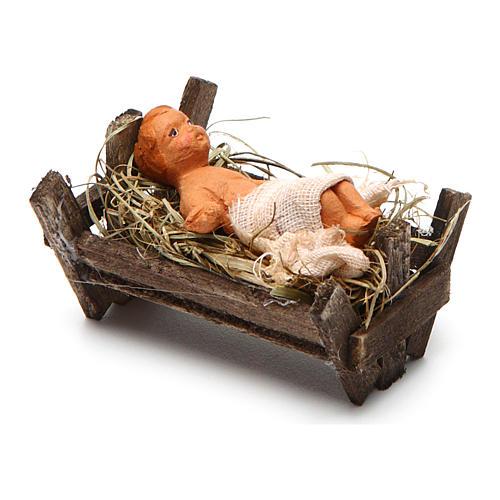 Neapolitan Nativity figurine, Baby Jesus, 10 cm 2