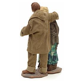 Neapolitan Nativity figurine, couple hugging, 24 cm s3