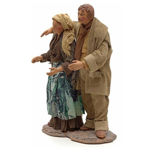 Neapolitan Nativity figurine, couple hugging, 24 cm 2