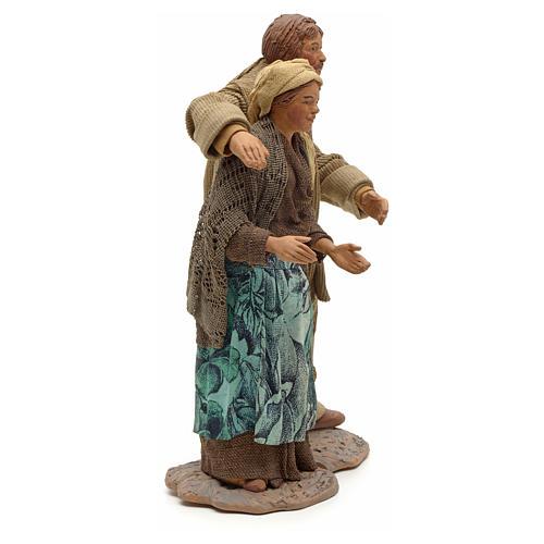 Neapolitan Nativity figurine, couple hugging, 24 cm 4